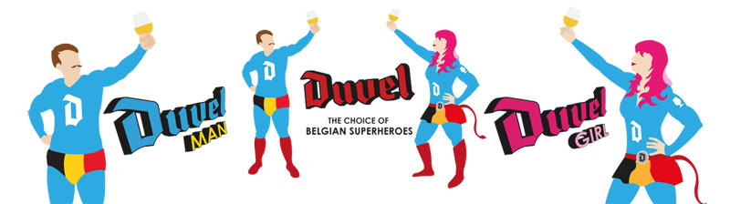 Grundon Graphics   Duvel Collection Glass Competition